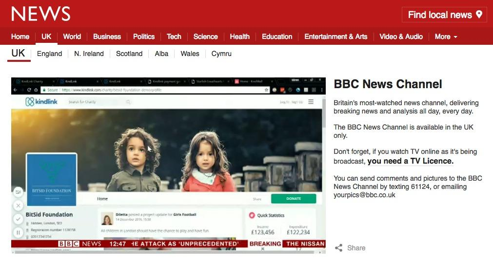 BBC featuring KindLink